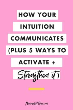 Today, I'm sharing HOW your intuition might be trying to communicate with you, along with 5 different ways that you can strengthen your intuition muscle so that you can experience more ease, fulfillment, happiness and growth in your life. #entrepreneurmindset #selfcaretips #mentalhealth #entrepreneurtips
