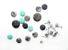 Make your own marble earrings with clay
