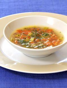 Barevná polévka s pohankou