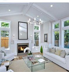 white living room interior design ❤️