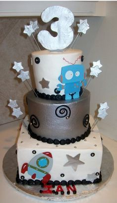 Image result for spaceship and robot cakes