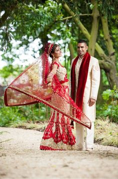 Beautiful Indian Brides - Dulhan = Bride, Dulha = Groom in Hindi/Urdu