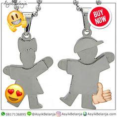 Kalung Couple Rajita (SKU1603) ✅Steel 316L Titanium ✅2.8cm x 2cm x 3mm | 2.8cm x 2cm x 3mm ✅Rp 250rb  AsyikBelanja.com The perfect companion for your fashion & style WA: 0817136895 IG: AsyikBelanja Line: @AsyikBelanja #jualkalung #kalung #kalungfashion #kalungcantik #kalungpesta #kalungunik #liontin #kalungcouple #kalungcouplemurah #kalungcoupletitanium #kalungpasangan #liontincouple #liontinpasangan Couples, Couple