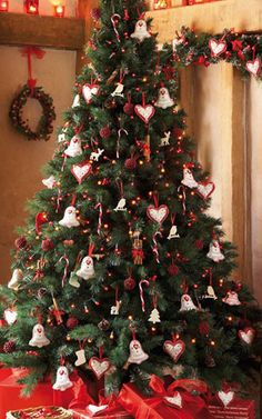 Xmas Tree Decorating Ideas with nice bell and a sign of love ornament decor for little christmas tree decorating ideas
