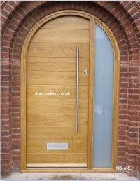 Contemporary Doors Gallery - Bespoke Doors and Windows Arched Front Door, Front Door Entryway, Front Door Porch, Porch Doors, Arched Doors, House Front, Garage Doors Uk, Unique Garage Doors, Garage Door Styles