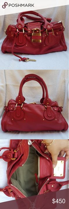 3e11867057fc Shop Women s Chloe Red size OS Satchels at a discounted price at Poshmark.