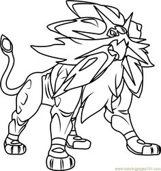 Solgaleo Pokemon Sun And Moon Printable Coloring Page For