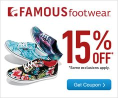 graphic about Famous Footwear Printable Coupons in Store titled 9 Perfect Retail Coupon codes visuals Retail coupon codes, 20 off