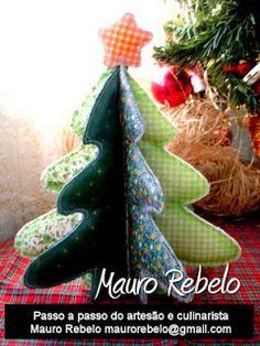 Gata Bacana Moldes: Molde Arvore de Natal Mauro Rebelo