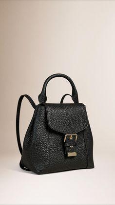 912237130aeb Signature Grain Leather Backpack