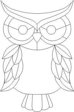 Image result for owl stained glass patterns #StainedGlassOwl