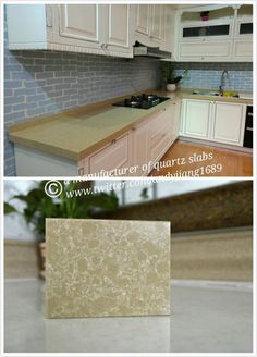 the kitchen can be in that yellow way #countertop...