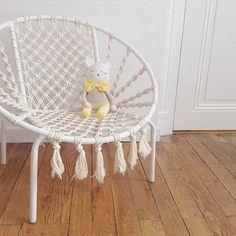 Macrame chair made by @benoiteetcamille #macrame