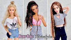 Barbie Room, Barbie Dolls Diy, Diy Doll, Barbie Stuff, Doll Stuff, Barbie Clothes Patterns, Clothing Patterns, Doll Clothes, Barbie Doll Hairstyles