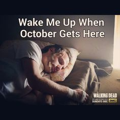 Reminds me of the Song Wake me Up when September Ends because then It Will Be The Walking Dead Time When September Ends, Wake Me Up, The Walking Dead, Songs, Fictional Characters, Walking Dead, Fantasy Characters, Music