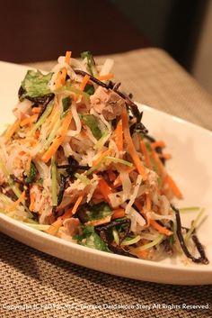 わさび海老マヨソースで、大根と三つ葉とひじきのサラダ。   Terraceさんちの台所 :Terrace Daidokoro Story: