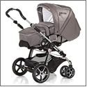 Racer S with soft carrycot  Soft, amazingly lightweight carrycot allowing you to move your sleeping baby from the pushchair without disturbing it Convertible into a summer footmuff Warm winter fur available (accessory) Inc. slashes for the use of harnesses Inc. carry handles Inc. pocket The footmuff is washable (30 degrees) Item No. 4062 available in all Hartan designs