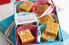 This salted caramel fudge is deliciously indulgent and moreish. Box it up and gift wrap for a tempting festive present for friends and family at Christmas. Makes: 36 squares.