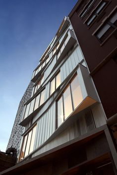 Built by nArchitects in New York, United States with date 2007. Images by Frank Oudeman & nArchitects. Switch Building is a 7 storey apartment and art gallery building at 109 Norfolk Street in the Lower East Side, New Yo...