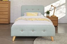 Calypso King Single Bed Frame by Nero Furniture King Single Bed, King Bed Frame, Harvey Norman, Retro Design, Bedroom Furniture, Solid Wood, Bedrooms, Store, Home Decor