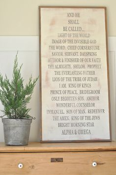 Names of God (ALPHA & OMEGA) by BetweenYouAndMeSigns on Etsy https://www.etsy.com/listing/119236955/names-of-god-alpha-omega