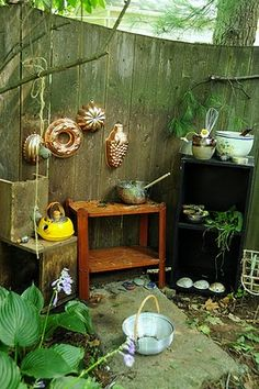let the children play: create a natural playscape in your own backyard - mud kitchen