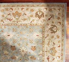 Sale New Pottery Barn Malika Persian Style Handmade 100 Wool Area Rugs Carpet
