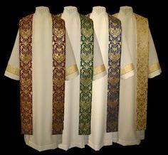 d272e2109664 clergy robes for women | Brocade Stole w/Dupioni Silk Spirit Wear, Choir,