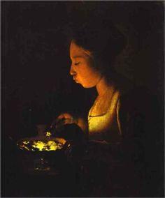 Girl with a Brazier - Georges de la Tour