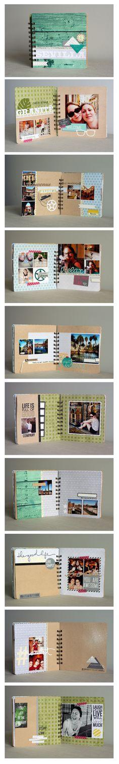 Sevilla mini travel scrapbooking album