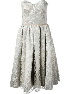 Antonio Marras Flared Floral Lace Dress