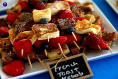 Yummy French Toast Kebabs!