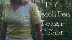 DIY Bleach Pen Design T Shirt  tutorial2..great way to update or recycle a shirt...chicenvelopements.wordpress.com/2011/06/14/diy-bleach-pen-t-shirt-design/