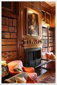 Dunster castle library (Somerset)
