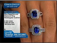 2 beautiful blue sapphire rings with diamond mounts available for sale at Gem Shopping Network