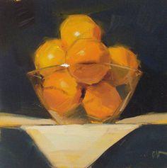 "Carol Marine :: ""Grapefruit""  - 6x6in. - oil on canvas"