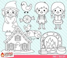 Hansel and Gretel Clipart
