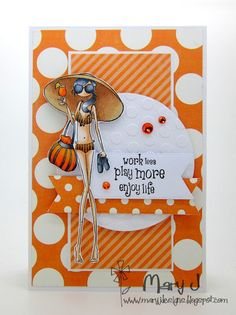 ***stamping summer*** Where's my creativity?: Can you have too much orange?