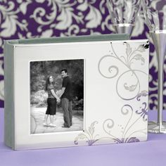 Silver Plated Flourish Photo Cover Guest Book