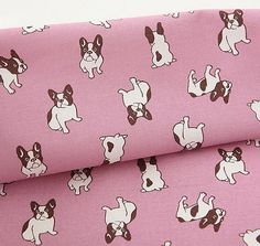French Bulldogs Pattern 20s Cotton Oxford Fabric  by luckyshop0228