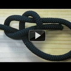 Best 12 This is a short video to help those who have seen many of my past videos where I use a bowline knot. This is the most useful knot you will ever learn. It will not slip when in use, and comes undone easily even after being tightened under thousands Paracord Knots, Rope Knots, Survival Knots, Survival Skills, Sailing Knots, Bowline Knot, Best Knots, Knots Guide, Nautical Knots