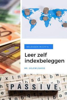 Leer de basics van passief beleggen met indextrackers en ETF's. Maak kennis met de belangrijkste eigenschappen van de indextracker. Tips voor beginners!   #beleggen #etf #indexbeleggen #aandelen #passiefinkomen Savings Plan, Financial Planning, Challenges, How To Plan, Blog, Tips, Student, Earn Money, Saving Money Plan