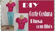 DIY - Blusa em Apenas 8 minutos + Molde - Curso de Corte e Costura - Passo a Passo