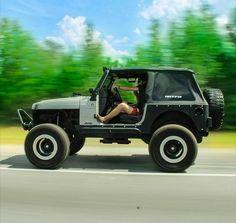 Doorless Jeep Wrangler