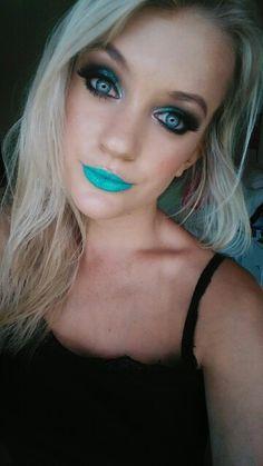 Dramatic Glitter Makeup and Bold Lips