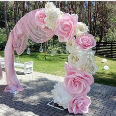 Pastel and Golds for a Traditional Outdoor Thailand Wedding Ceremony Wedding Backdrop Design, Wedding Stage Decorations, Backdrop Decorations, Flower Decorations, Wedding Centerpieces, Backdrop Event, Backdrops, Paper Flowers Wedding, Wedding Paper