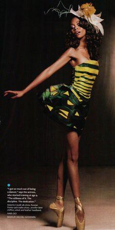 Zoe Saldana makes a beautiful ballerina.