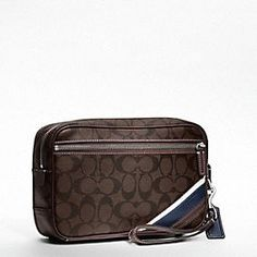 For that European Guy in all of us: HERITAGE STRIPE FLIGHT CASE from @Coach, Inc. #want