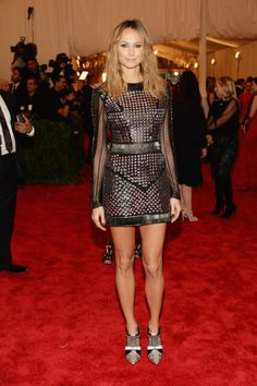 Stacy Keibler in Rachel Roy     Met Gala 2013 Red Carpet: See All The Punk Fashion (PHOTOS)