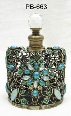 Jeweled perfume bottle by nadine
